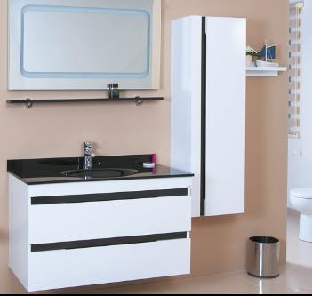 Ürün Özellikleri: MDF Üzeri Parlak Kaplama - Led Aydınlatmalı Ayna ve Etajer - Tam Açılım Frenli Çekmeceler - Cam Lavabo - Boy Dolap Frenli Kapak