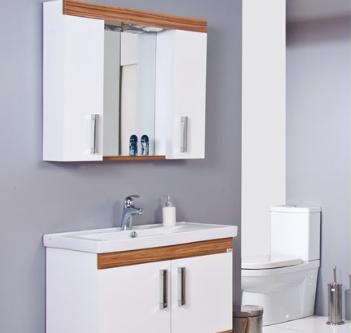 Ürün Özellikleri: Kaplama MDF - Krom Spot - Anahtarlı Priz - Etajerli Ayna - Seramik Lavabo Uyumlu Lavabo: Safran Serisi Lavabolar