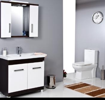 Ürün Özellikleri: Kaplama MDF - Krom Spot - Anahtarlı Priz - Etajerli Ayna - Frenli Kapaklar - Seramik Lavabo. Uyumlu Lavabo: Safran 80 cm Lavabo