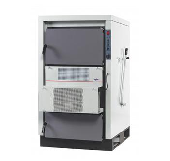Kapasite 25.000 / 45.000 / 70.000 / 100.000 kcal/h, Baca tipi:Bacalı, Isıtıcı gövde Üç geçişli, Yakıt tipi Katı yakıt
