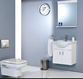Ürün Özellikleri: Parlak Kaplama MDF - Etajerli Ayna - Seramik Lavabo. Uyumlu Lavabo: Klasik 55 cm Lavabo