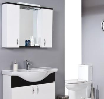 Ürün Özellikleri: Parlak Kaplama MDF - Krom Spot - Anahtarlı Priz - Etajerli Ayna - Seramik Lavabo Uyumlu Lavabo: Klasik Serisi Lavabolar